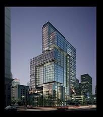 房地产高层建筑夜景效果图max
