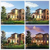 别墅及园林景观设计效果图max