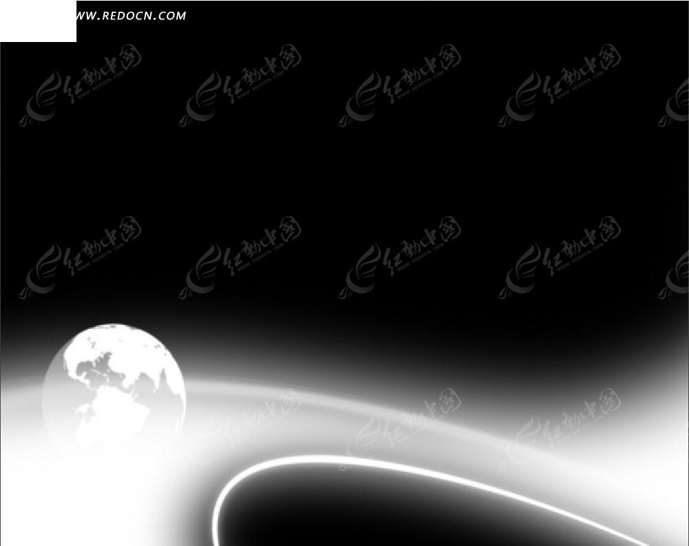黑白色手绘简单星空