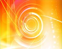 橙色圆环光效视频