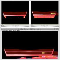 红色立体背景视频