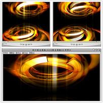 金色圆环波纹光效视频