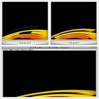 动态金色圆环背景视频