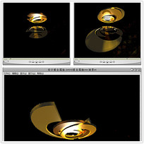 立体金色漩涡片头视频