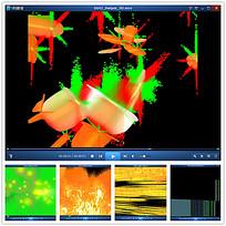 彩色粒子星光背景视频