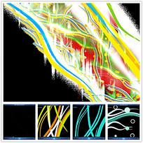 彩色光效丝带视频