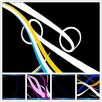 动态抽象色彩线条背景视频