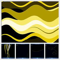 黄色波纹背景视频