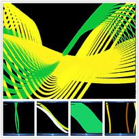 黄绿色曲线线条视频