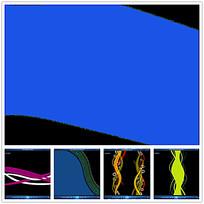 彩色螺旋花纹背景视频