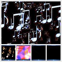 光效动态立体音符视频