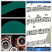五线谱音乐视频素材