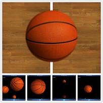 3D篮球弹跳视频