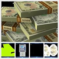 货币符号金融视频