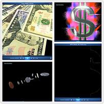 美元硬币视频素材