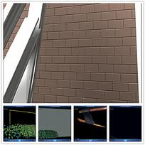 砖墙背景视频