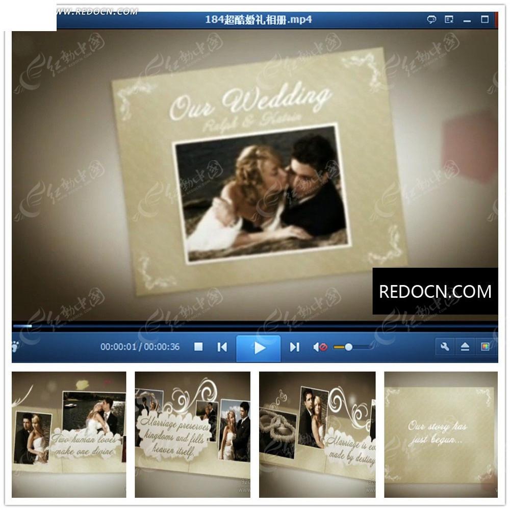 国外创意婚礼片头视频图片