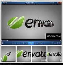 旋转企业logo片头视频