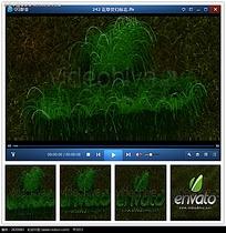绿色烟火企业片头视频