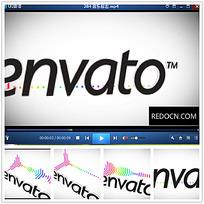 简约企业logo彩色频率视频