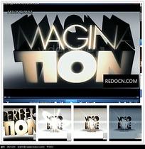立体放射光效logo视频