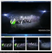公司logo云雾背景视频