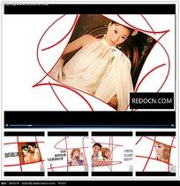 简约婚礼红线背景视频