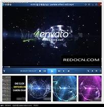 彩色星光企业logo片头视频