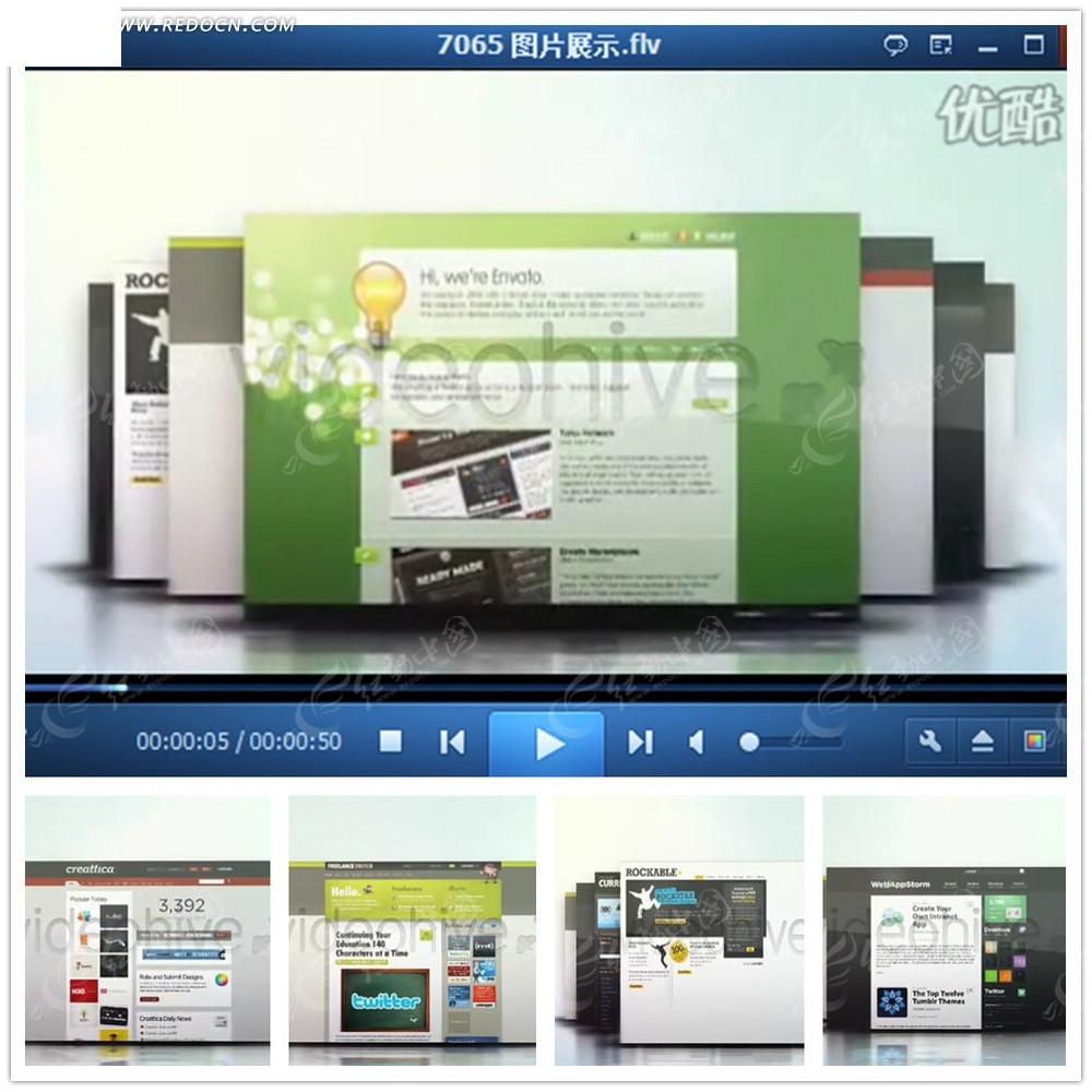 网页设计展示ae模板