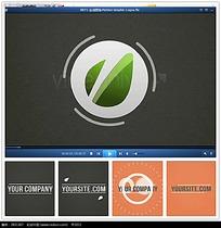 简约企业logo片头视频