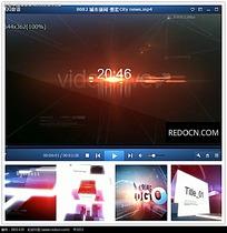 高端立体光效logo视频