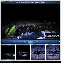 简约光效破碎背景logo视频