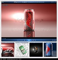 啤酒汽水展示广告视频