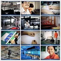 工厂工作生产场景视频