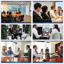 国外职场人物会议视频