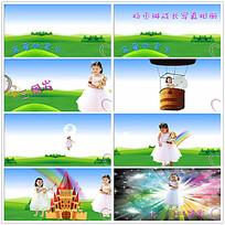 卡通儿童周岁视频素材