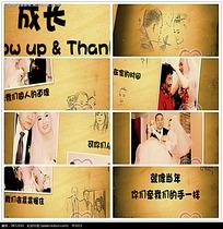 卡通素描人物婚礼相册视频