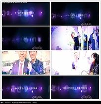 紫色光晕光效婚礼相册视频