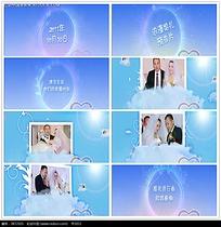 蓝色光晕光圈婚礼视频