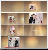 简约金色婚礼动感相册视频