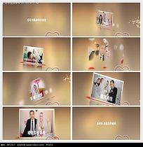 简约婚礼光效照片视频