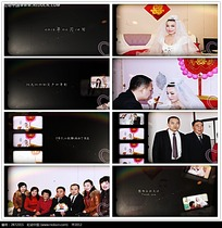 简约黑色动态婚礼相册视频