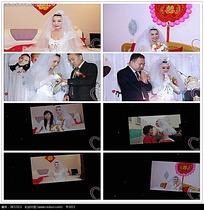 动态简约婚礼照片视频