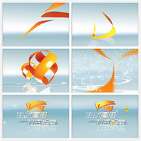 白色星光片头logo视频