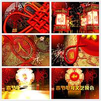 喜庆光效春节晚会片头视频