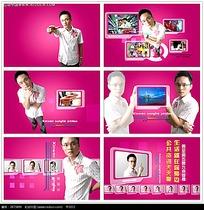 粉色动画娱乐节目视频