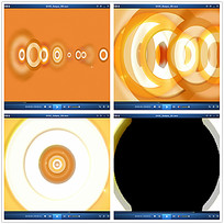 橙色光效圆环转场视频