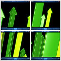 绿色向上箭头视频
