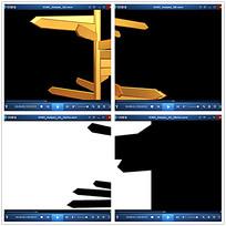 金色箭头指示牌视频