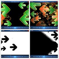 动态光效箭头效果视频